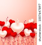 valentine's day card love and... | Shutterstock .eps vector #1007647897