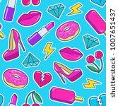 cute fashion seamless pattern...   Shutterstock .eps vector #1007651437