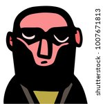 bald man with beard portrait   Shutterstock .eps vector #1007671813