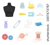 atelier and sewing cartoon... | Shutterstock .eps vector #1007673787