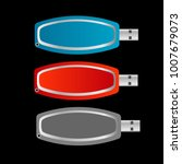 set of colorful usb flash drive ... | Shutterstock .eps vector #1007679073