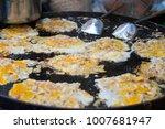 oyster omelette the thai food...   Shutterstock . vector #1007681947