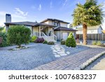 beautiful home exterior with... | Shutterstock . vector #1007683237