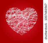 vector heart in grunge style on ... | Shutterstock .eps vector #1007683567