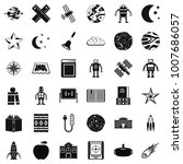 astronomy exploration icons set....   Shutterstock . vector #1007686057