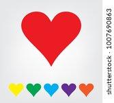 heart icon set vector...   Shutterstock .eps vector #1007690863