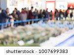 visitors visit the exhibition...   Shutterstock . vector #1007699383
