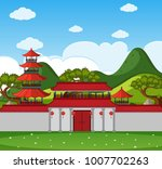 background scene with chinese... | Shutterstock .eps vector #1007702263