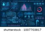 futuristic interface hud design ... | Shutterstock . vector #1007703817