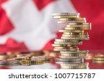national flag of switzerland... | Shutterstock . vector #1007715787