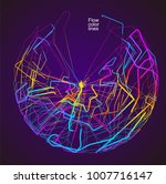 moving colorful lines of... | Shutterstock .eps vector #1007716147