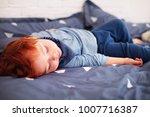 cute little redhead baby... | Shutterstock . vector #1007716387