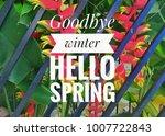 inspirational qoutes 'hello...   Shutterstock . vector #1007722843