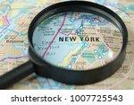 close up of new york city under ...   Shutterstock . vector #1007725543