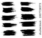 grunge ink brush strokes set.... | Shutterstock .eps vector #1007728573