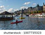 paddle in the stockholm  sweden | Shutterstock . vector #1007735323