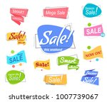 big set colored promotion... | Shutterstock .eps vector #1007739067