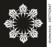 tropical leaf black background... | Shutterstock .eps vector #1007742667