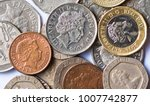 british coins on white...   Shutterstock . vector #1007742877