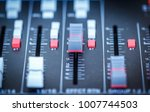 close up sound mixer useful for ... | Shutterstock . vector #1007744503