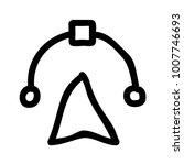 bezier drawing  design  | Shutterstock .eps vector #1007746693
