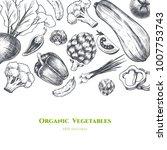 vector frame with vegetables .... | Shutterstock .eps vector #1007753743