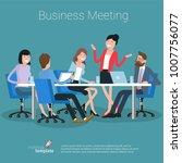 flat design business process... | Shutterstock .eps vector #1007756077