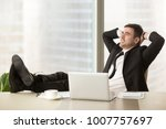 relaxed businessman feeling... | Shutterstock . vector #1007757697
