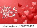 valentines day greeting card... | Shutterstock .eps vector #1007763457