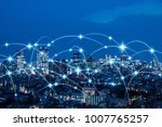 wireless communication network... | Shutterstock . vector #1007765257