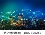 wireless communication network... | Shutterstock . vector #1007765263