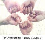 business teamwork making strong ... | Shutterstock . vector #1007766883