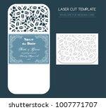 envelope for wedding invitation ... | Shutterstock .eps vector #1007771707