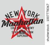 new york star graphic design... | Shutterstock .eps vector #1007778367