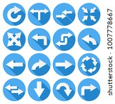 arrows set. collection of round ... | Shutterstock .eps vector #1007778667