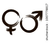 male and female icon signs.... | Shutterstock .eps vector #1007778817