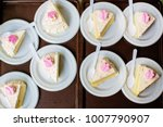 many pieces of white cake and...   Shutterstock . vector #1007790907