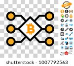 bitcoin pool nodes pictograph... | Shutterstock .eps vector #1007792563