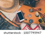 travel accessories costumes....   Shutterstock . vector #1007795947