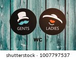 Vintage Wc Signs For Ladies An...