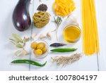 pasta  spices  vegetables... | Shutterstock . vector #1007804197