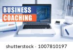 business coaching text concept... | Shutterstock . vector #1007810197