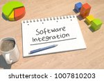 software integration   text... | Shutterstock . vector #1007810203