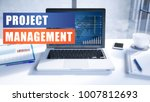 project management text concept ... | Shutterstock . vector #1007812693