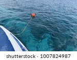 orange color mooring buoy... | Shutterstock . vector #1007824987