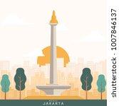 jakarta's landmark vector...   Shutterstock .eps vector #1007846137