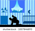 father carrying a child... | Shutterstock .eps vector #1007846893