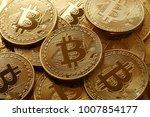 golden bitcoins. new virtual...   Shutterstock . vector #1007854177
