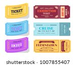 theatre and cinema tickets ... | Shutterstock .eps vector #1007855407