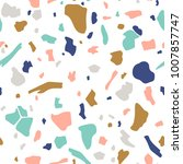terrazzo seamless pattern.... | Shutterstock .eps vector #1007857747